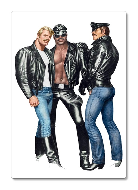 Tom of Finland:Refrigerator rubber magnet Leather Brotherhood