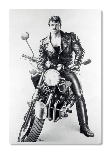 Tom of Finland:Refrigerator rubber magnet Motorcycle