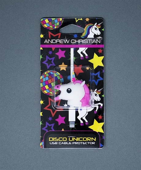 Andrew Christian: Disco Unicorn USB Cable Protector