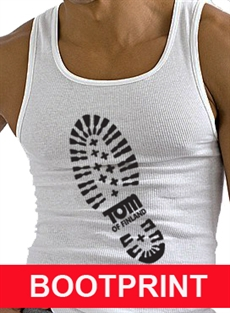 Tom of Finland: BOOTPRINT tank white