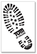 Tom of Finland: BOOTPRINT refrigerator magnet