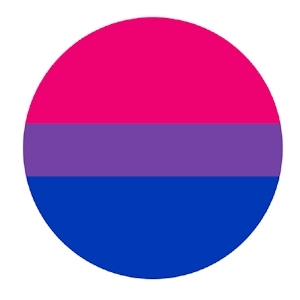 Button 55mm: Bisexual Pride