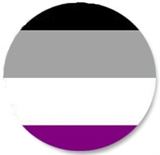 Button 32mm: Asexual Pride