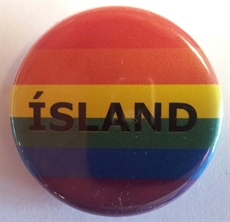 Button 32mm: Rainbow ìSLAND
