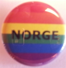 Button 32mm: Rainbow NORGE