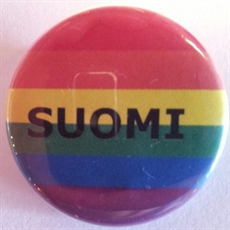 Button 32mm: Rainbow SUOMI