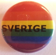 Button 32mm: Rainbow SVERIGE