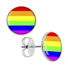 Rainbow Studs Stainless Steel