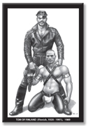 Tom of Finland: HARNESS DUO refrigerator magnet