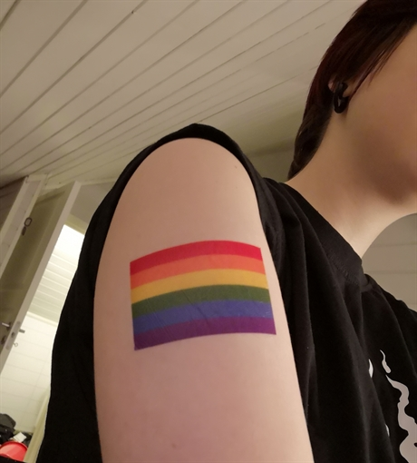 Rainbow Flag Temporary Tattoo