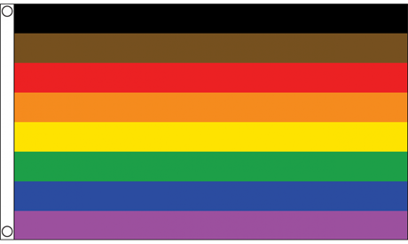 Philadelphia People Of Color Inclusive Flag (90 cm x 150 cm)