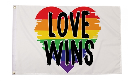Love Wins Pride Flag (90 x 150 cm)