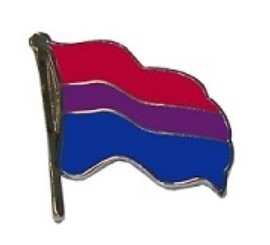 BI Pride Wavy Flag Lapel Pin
