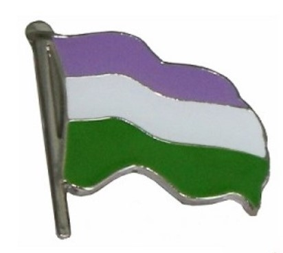 Gender Queer Wavy Flag Label Pin
