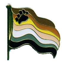 Pin: Waving Bear Pride Flag