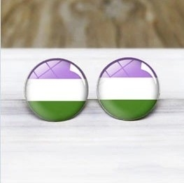 Earrings Genderqueer Pride