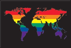 Postkort: Rainbow World black