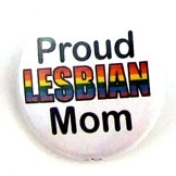 Button 32mm: Proud Lesbian Mom