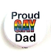 Button 32mm: Proud Gay Dad