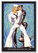 Tom of Finland: PSYCHEDELIC BLUE refrigerator magnet